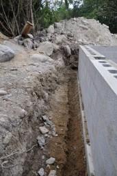Graben für Drainage