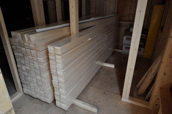 Materiallager im Haus 1